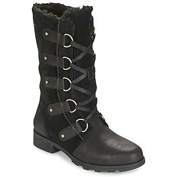 Chaussures Femme Bottes ville Sorel EMELIE LACE Noir