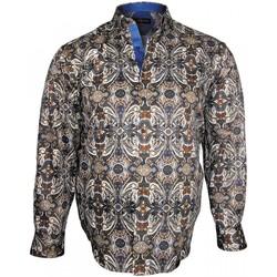 Vêtements Homme Chemises manches longues Doublissimo chemise mode verone beige Beige