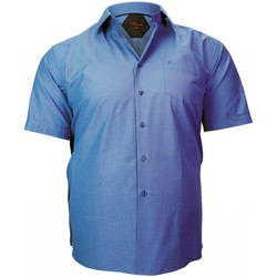 Vêtements Homme Chemises manches courtes Doublissimo chemisette repassage facile brook bleu Bleu
