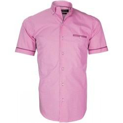 Vêtements Homme Chemises manches courtes Emporio Balzani chemisette vichy piastrella rose Rose