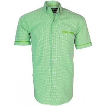 Vêtements Homme Chemises manches courtes Emporio Balzani chemisette vichy piastrella vert Vert
