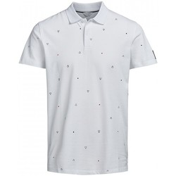 Vêtements Homme Polos manches courtes Jack & Jones Polo  River blanc