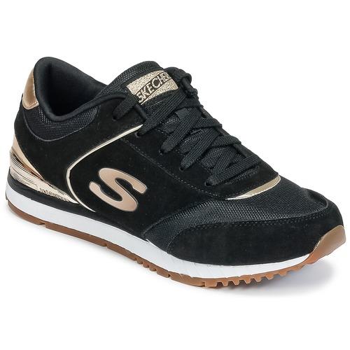 Chaussures Femme Baskets basses Skechers SUNLITE Noir / Or