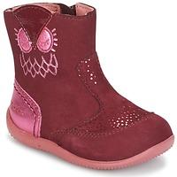 Chaussures Fille Boots Kickers BRETZELLE Rose foncé
