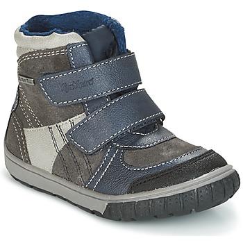 Chaussures Garçon Bottes de neige Kickers SITROUILLE Gris foncé / Bleu