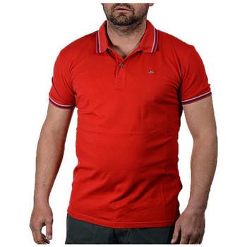 Vêtements Homme Polos manches courtes Napapijri ELDIS STRIPE A Polo