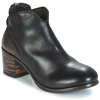 Chaussures Femme Boots Moma CUSNA NERO/ TALON TACO MIX, ARRIRE AFRICA Noir / Argent