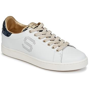 Chaussures Femme Baskets basses Serafini J.CONNORS Blanc / Bleu / Or