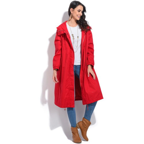 Vêtements Femme Parkas Bella Blue Parka ANOUK Femme Collection Printemps Eté Rouge