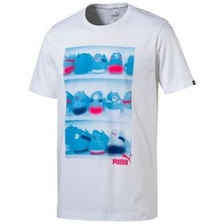 Vêtements Homme T-shirts manches courtes Puma Tee shirt Sneaker Photo blanc