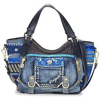 Sacs Femme Sacs porté épaule Desigual BOLS_ROTTERDAM MINI EXT.EXOTIC Noir / Denim