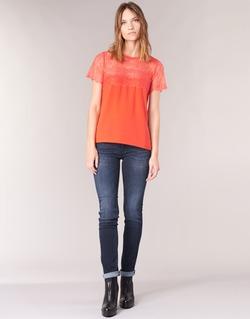 Vêtements Femme Jeans droit Le Temps des Cerises PULP REGULAR Bleu Foncé