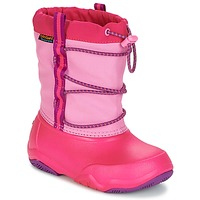 Chaussures Fille Plat : 0 cm Crocs Swiftwater waterproof boot Party pink