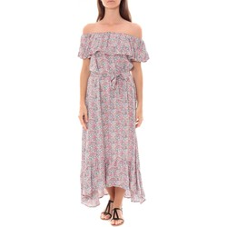 Vêtements Femme Robes longues By La Vitrine Robe Longue Care  of you Fleuri Rose F50035 Rose