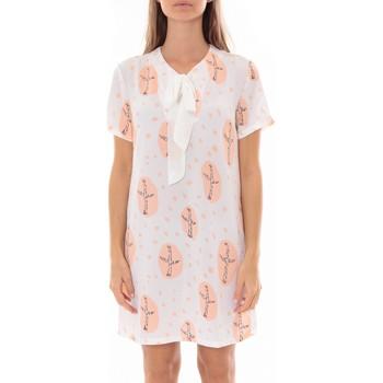 Vêtements Femme Robes courtes By La Vitrine Robe Tunique Blanc 4283-583 Blanc
