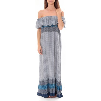Vêtements Femme Robes longues By La Vitrine Robe Longue Care  of you  Bleu F50055 Bleu