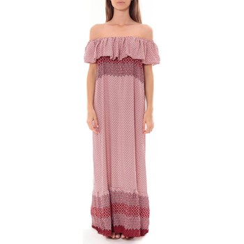 Vêtements Femme Robes longues By La Vitrine Robe Longue Care  of you  Rouge F50055 Rouge