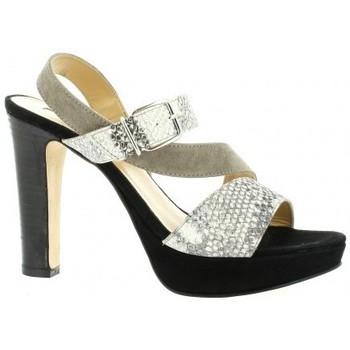 Chaussures Femme Escarpins Donna Più Nu pieds cuir velours  python Python