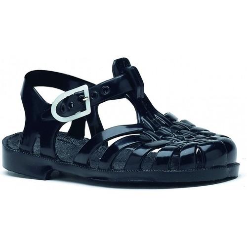 Chaussures Sandales et Nu-pieds Méduse Sandales ado en plastique noir Noir