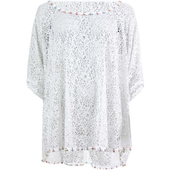 Blouses Banana moon t-Shirt seethrough coral blanc