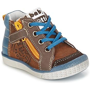 Chaussures Garçon Baskets montantes Babybotte AKRO Marron / Bleu