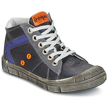 Chaussures Garçon Baskets montantes Babybotte KANADA Gris Foncé