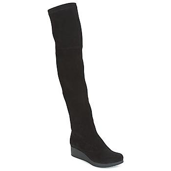 Chaussures Femme Cuissardes Robert Clergerie Natun-VELOURS-STRETCH-NOIR Noir