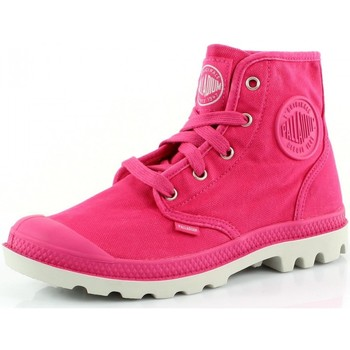 Chaussures Femme Baskets montantes Palladium Pampa Hi Rose