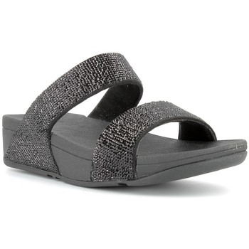 Chaussures Femme Mules FitFlop Nu-pieds compensées femme  - ELECTRA MICRO SLIDE Black