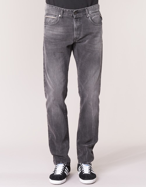 Grover Homme Gris Jeans Replay Droit wN80nOkPX
