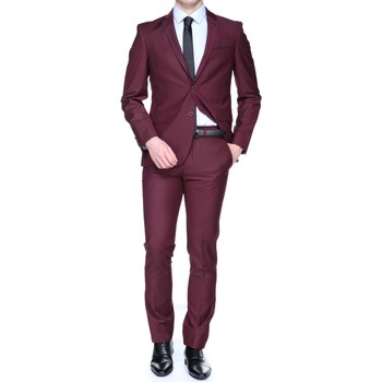 Vêtements Homme Costumes  Leader Mode Nf132455 Jordan Bordeau Rouge