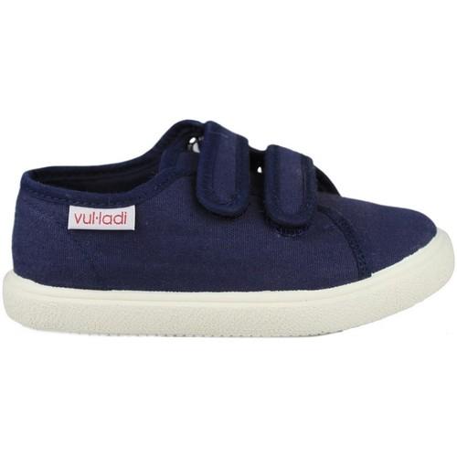 Chaussures Enfant Baskets basses Vulladi PIQUE BLUE