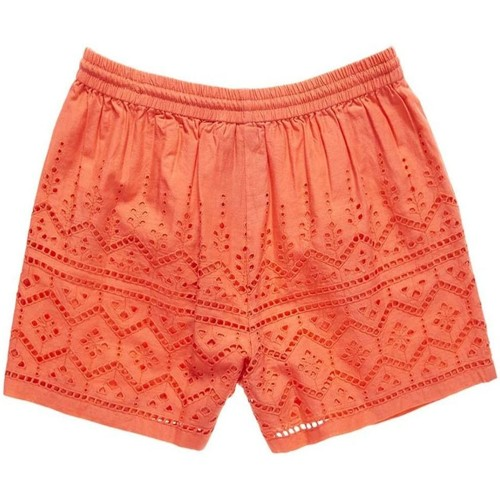 Vêtements Femme Shorts / Bermudas Superdry Short  Pier Schiffli Coral Rouge