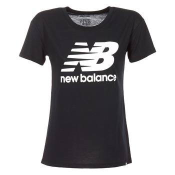 Vêtements Femme T-shirts manches courtes New Balance NB LOGO T Noir / Blanc