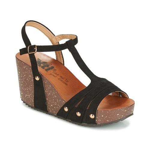 Chaussures Femme Sandales et Nu-pieds Xti  Noir