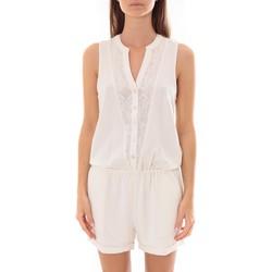 Vêtements Femme Combinaisons / Salopettes LPB Woman Les Petites bombes Combi Short  Dentelle Blanc  S175703 Blanc