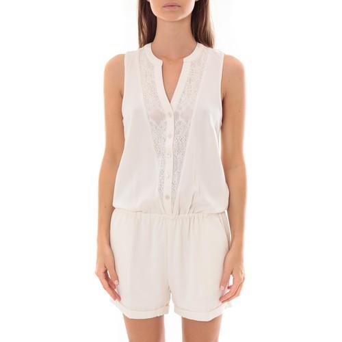 Vêtements Femme Combinaisons / Salopettes Lpb Woman Textile Les Petites bombes Combi Short  Dentelle Blanc  S175703 Blanc
