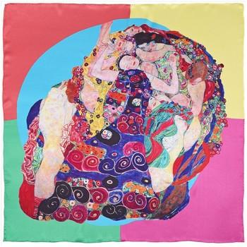 Echarpe Silkart Carré de soie Gustav Klimt Les V