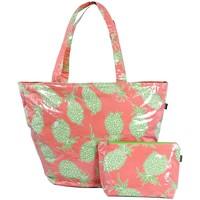 Sacs Femme Cabas / Sacs shopping Baisers Salés Sac plage et pochette maillot Ananas rose