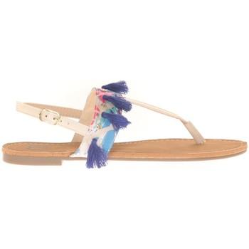 Chaussures Femme Sandales et Nu-pieds Cassis Côte D'azur Ella entre doigt bridées et Pompons Beige Beige