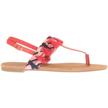 Chaussures Femme Sandales et Nu-pieds Cassis Côte D'azur Ella entre doigt bridées et Pompons Red Rouge