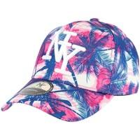 Accessoires textile Casquettes Hip Hop Honour Casquette Baseball Rose et Bleu Tropical Rose