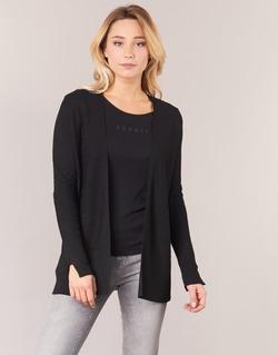 Vêtements Femme Gilets / Cardigans Esprit IRDU Noir