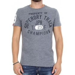 Vêtements Homme T-shirts manches courtes Superdry T-shirt  Trackster S/s Pearl Blue Grindle Gris