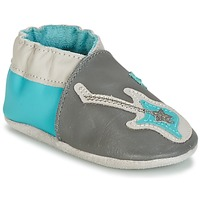 Chaussures Garçon Chaussons bébés Robeez SUPERSTAR ROCK Bleu / Gris