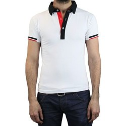 Vêtements Homme Polos manches courtes Kebello Polo LY7064 blanc