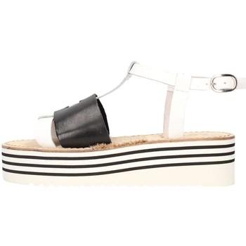 Chaussures Femme Sandales et Nu-pieds Zoe Cu50/02 Sandale Femme Blanc / noir Blanc / noir