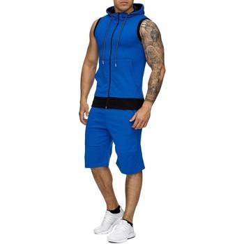 Vêtements Homme Ensembles de survêtement Monsieurmode Ensemble jogging mode Survêtement 971 bleu Bleu