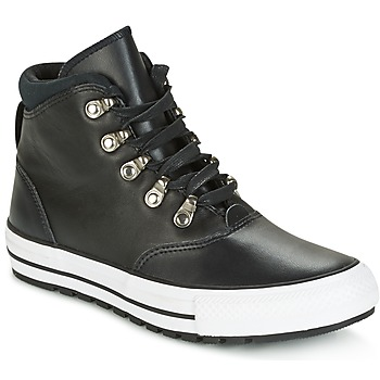 Chaussures Femme Baskets montantes Converse CHUCK TAYLOR ALL STAR EMBER BOOT SMOOTH LEATHER HI BLACK/BLACK/W Noir / Blanc