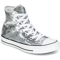 Chaussures Femme Baskets montantes Converse CHUCK TAYLOR ALL STAR SEQUINS HI Argenté